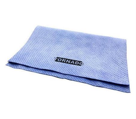 Искусственная замша перфорированная TORNADO, синяя, 50х37 см., фото 2