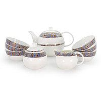 Позолоченный чайный сервиз с пиалами на 6 пер. Тамерлан (Акку, Казахстан)
