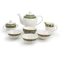 Позолоченный чайный сервиз с пиалами на 6 пер. Салтанат (Акку, Казахстан)