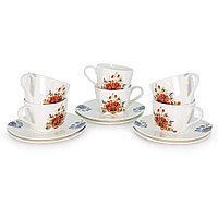 Набор чайных пар на 6 персон Варвара (Акку, Казахстан)