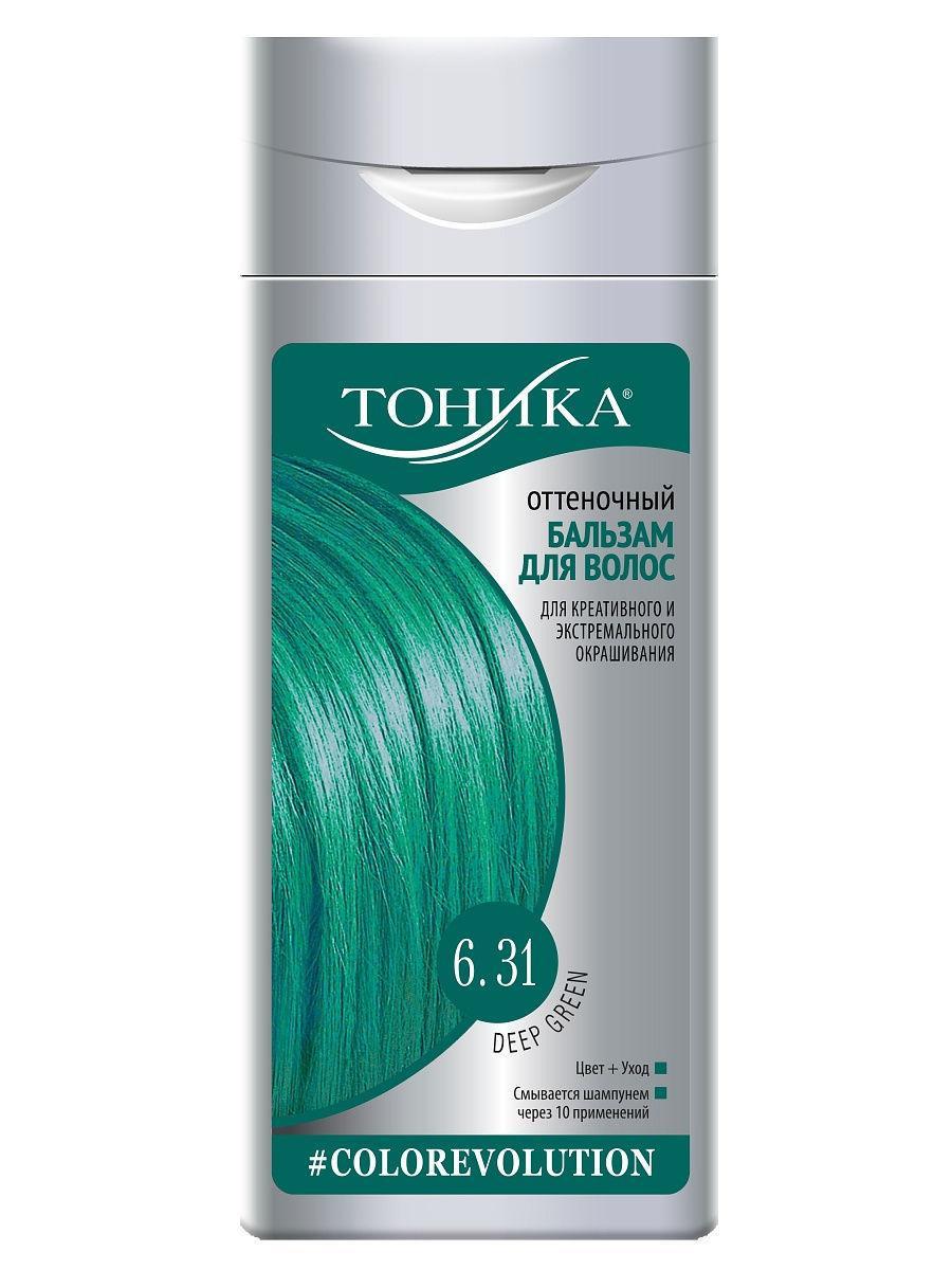 Тоника Colorevolution Оттеночный бальзам для волос 6.31 Deep Green неоновый зеленый