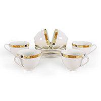 Позолоченные чайные пары на 6 персон Золотая Веточка (Акку, Казахстан)