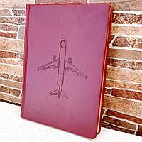 Ежедневник недатированный с самолетом Airbus A320, светло-коричневый цвет