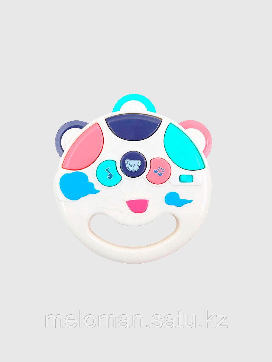 Развивающая игрушка для малышей, интерактивная музыкальная погремушка Бубен - фото 3