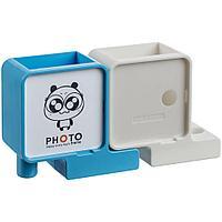 Органайзер с фоторамкой Officelover, белый с голубым, фото 1