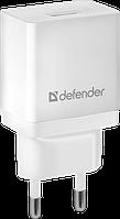 Зарядное устройство сетевое Defender EPA-10, 1хUSB, 5V/2.1А, белый