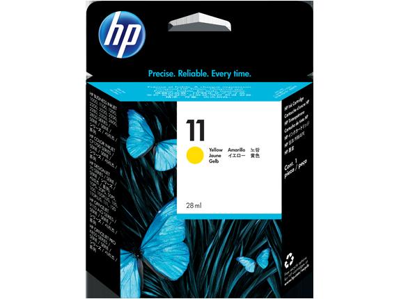 HP C4838A Картридж желтый HP 11 для Designjet 111/100plus/110plus/120/100/10ps/50ps