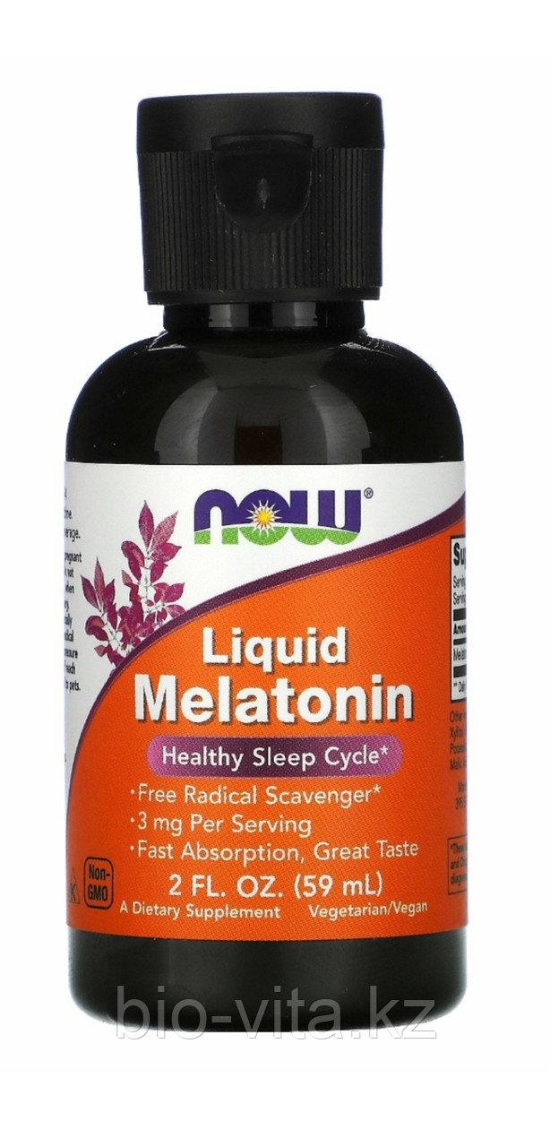 Жидкий мелатонин, 2 жидких унции (59 мл). Now Foods