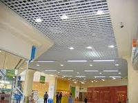 Ячеистый потолок Грильято Албес Серый, 100x100 мм