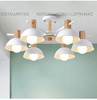 Люстра в скандинавском стиле на 6 ламп