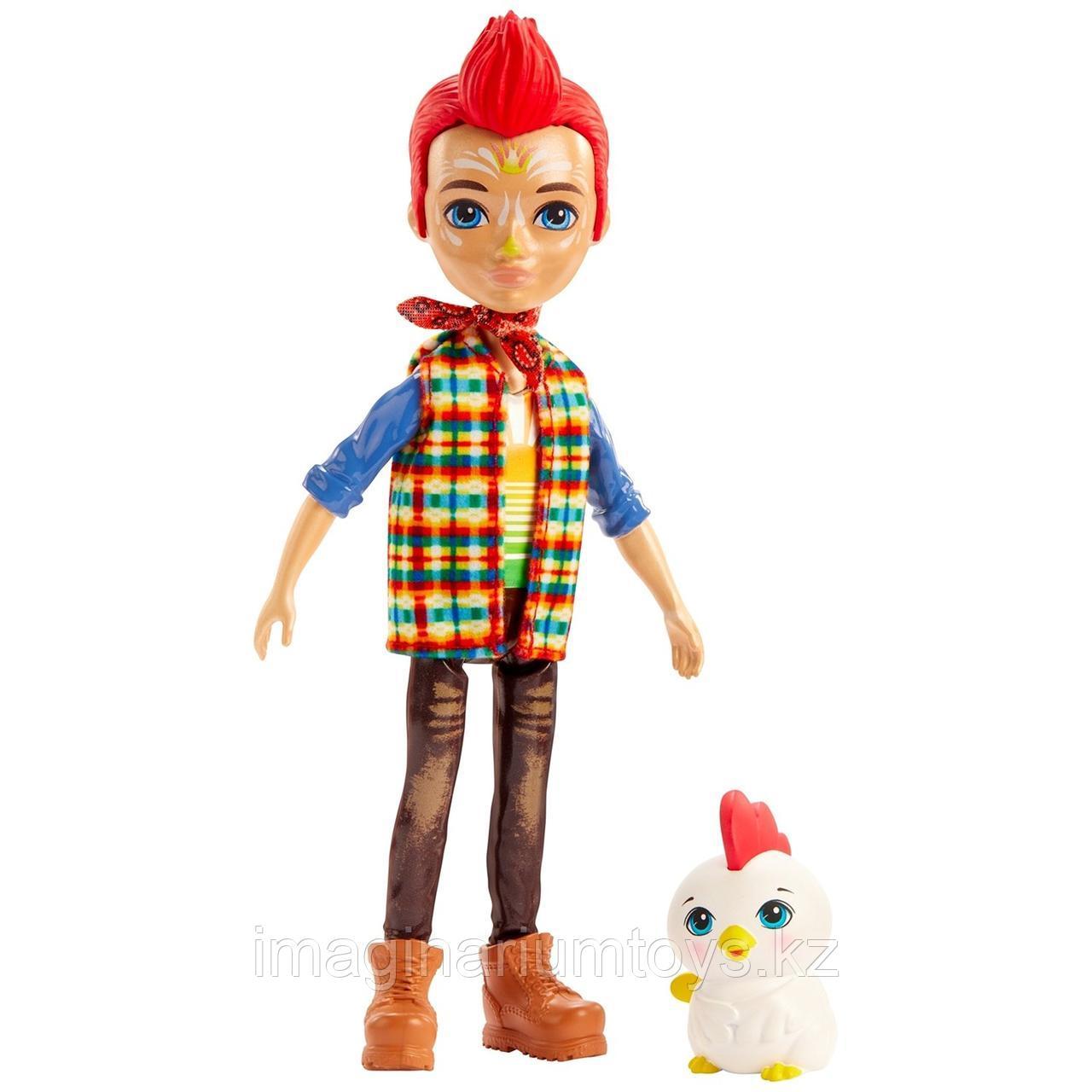 Кукла Enchantimals мальчик петушок Ривод Рустер и Клак