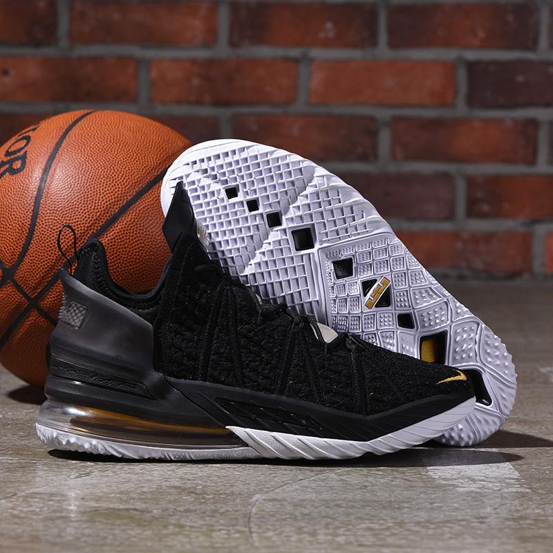 Баскетбольные кроссовки LeBron 18 ( XVIII) Black Gold (36-46)