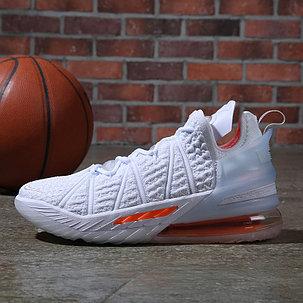 Баскетбольные кроссовки Nike LeBron 18 ( XVIII) White Orange (36-46), фото 2