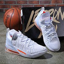 Баскетбольные кроссовки Nike LeBron 18 ( XVIII) White Orange (36-46), фото 3