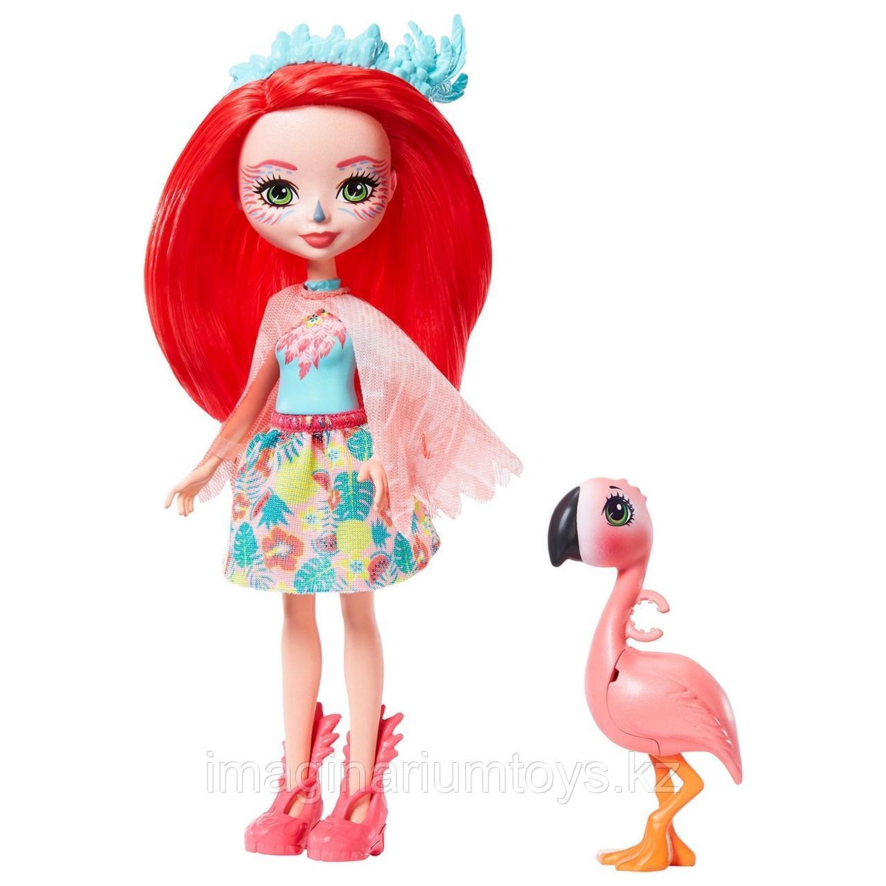 Кукла Энчантималс фламинго Фэнси и Свош