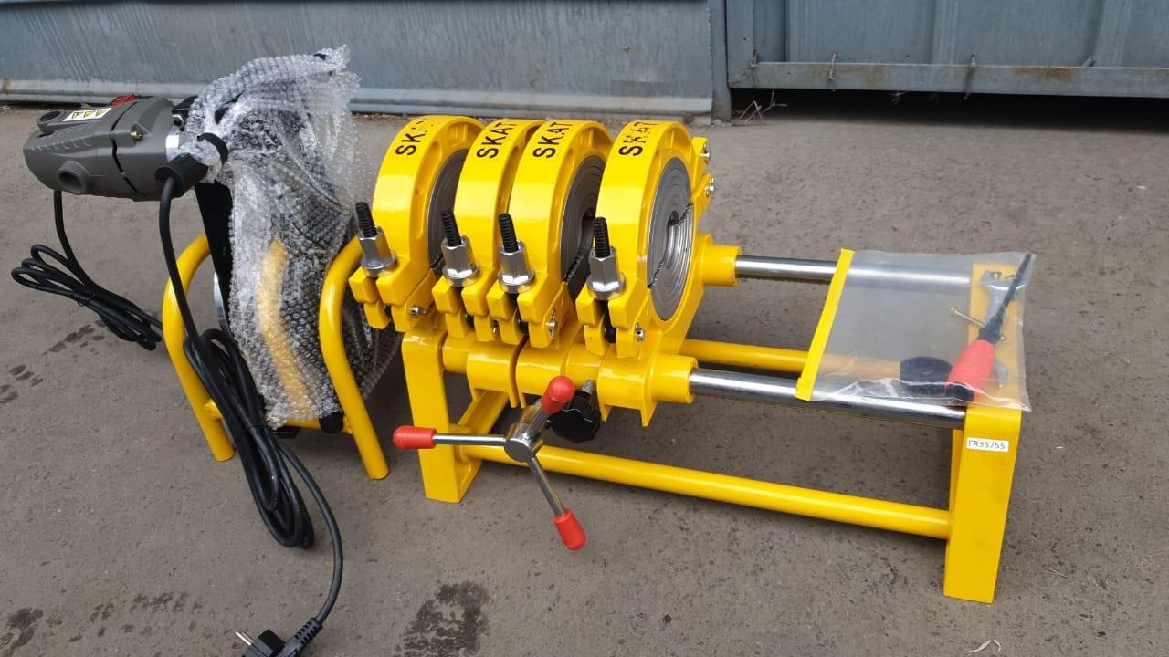 Механический сварочный аппарат для стыковой пайки полиэтиленовых труб от 63 до 200мм