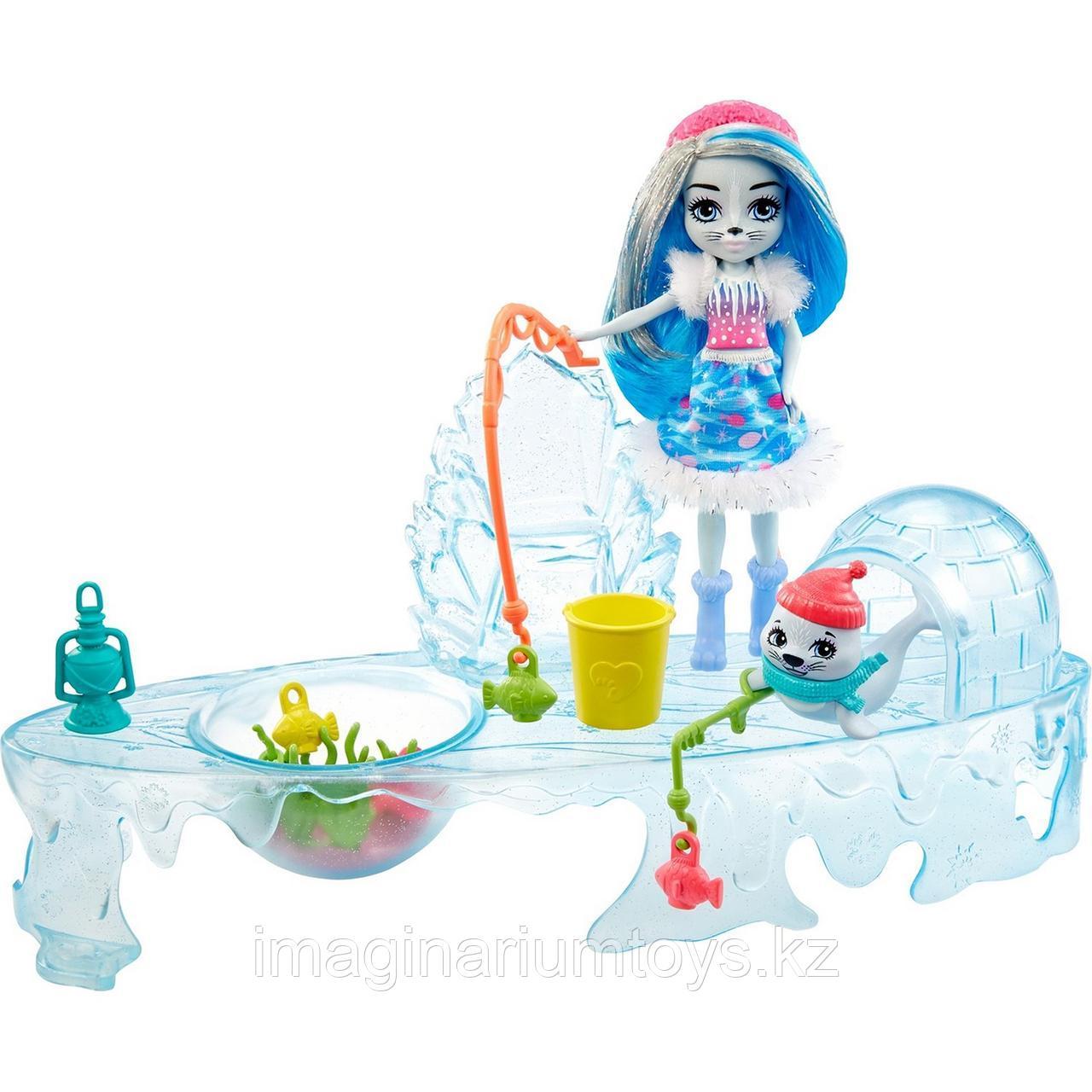 Enchantimals игровой набор Рыбалка с куклой Тюлень и асессуарами