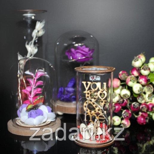 Цветы в колбе с подсветкой