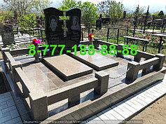Гранитные комплексы на кладбище 34