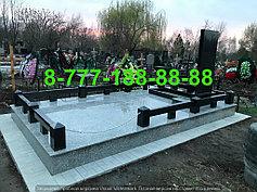 Гранитные комплексы на кладбище 18