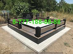 Гранитные комплексы на кладбище 4