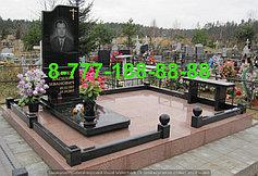 Гранитные комплексы на кладбище 47