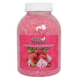 Соль для ванн с пеной «Ecotherapy» Малина со сливками