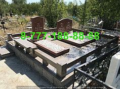 Гранитные комплексы на кладбище 17