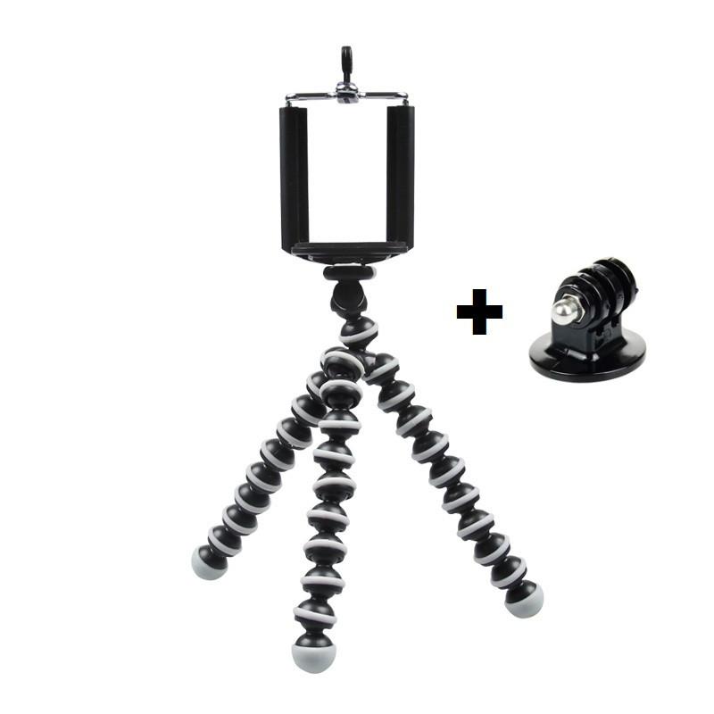 Гибкий мини штатив/ паук со стандартным винтом с винтом 1/4 и 3/8 - фото 2