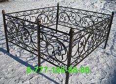 Оградки на кладбище 33