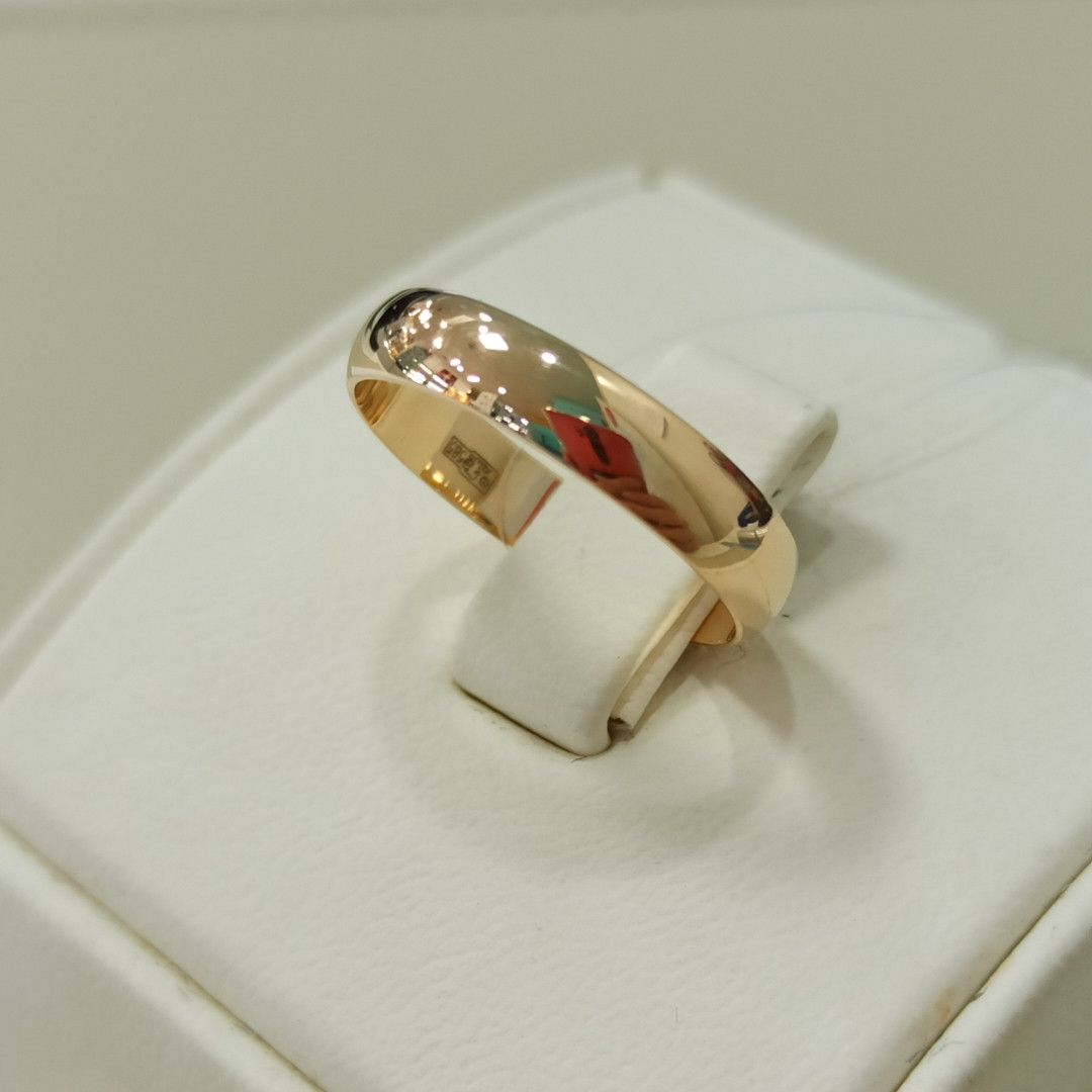 Обручальное кольцо / красное золото - 16,5 размер