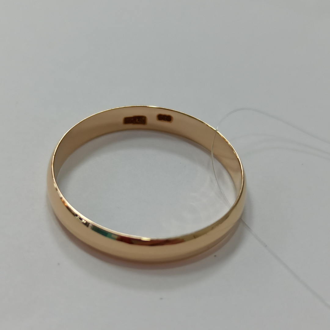 Обручальное кольцо / красное золото - 20,5 размер - фото 2