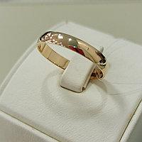 Обручальное кольцо / красное золото - 20,5 размер