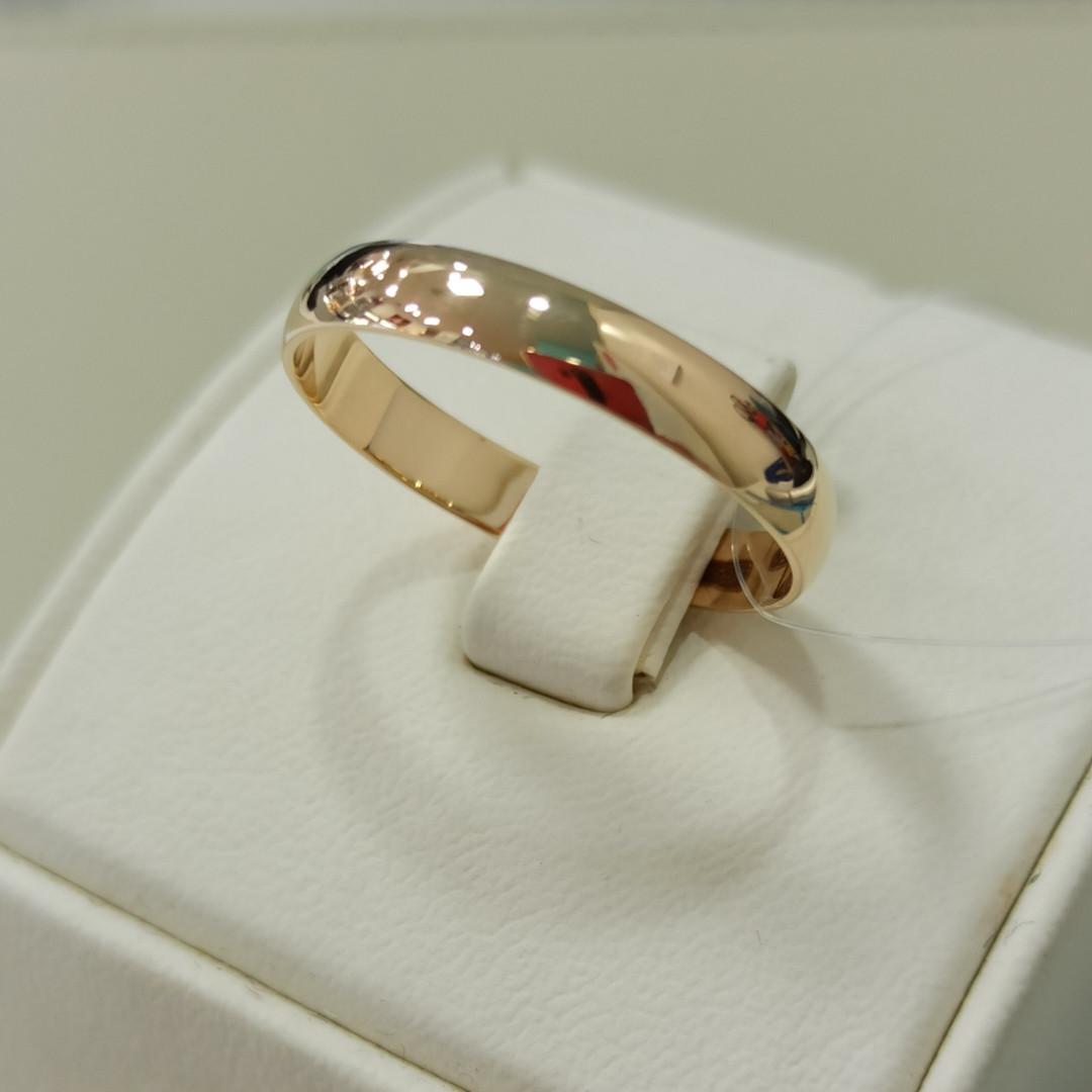 Обручальное кольцо / красное золото - 20,5 размер - фото 1