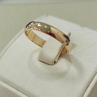 Обручальное кольцо / красное золото - 18,5 размер
