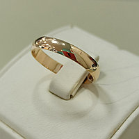Обручальное кольцо / красное золото - 19 размер