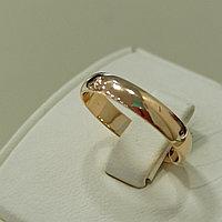 Обручальное кольцо / красное золото - 18 размер