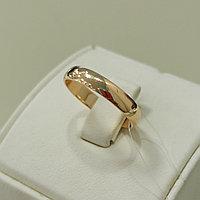 Обручальное кольцо / красное золото - 17,5 размер