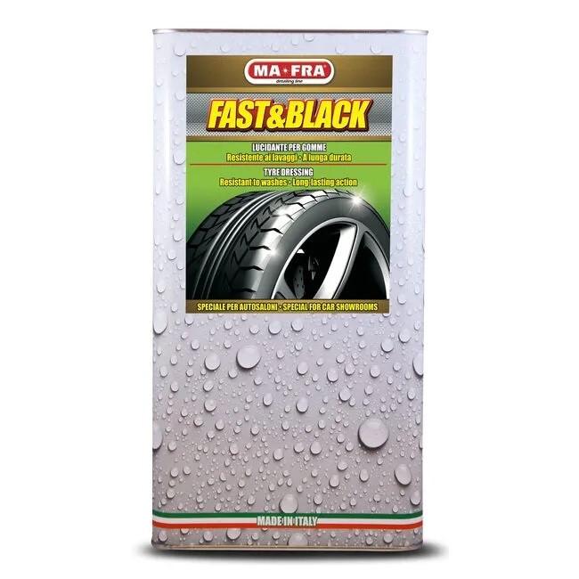 Восстанавливающая полироль резины, бамперов, молдингов Ma-Fra FAST&BLACK (4,5 л)