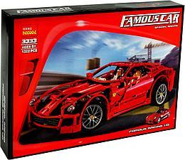 Decool 3333 Конструктор Ferrari 599 GTB Fiorano, 1441 дет. (Аналог LEGO)