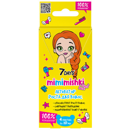 Активатор роста волос 7 days mimimishiki