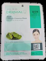 Dermal Успокаивающая тканевая маска для лица с коллагеном и алоэ Aloe Collagen Essence Mask