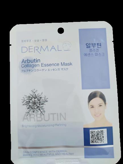 Dermal Тканевая маска для лица с арбутином и коллагеном Arbutin Collagen Essence Mask