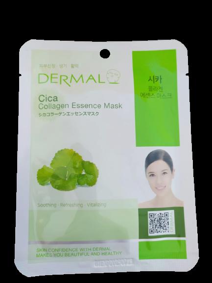 Dermal Питательная маска для лица на основе эссенции центеллы азиатской и коллагенаCica Collagen Essence Mask