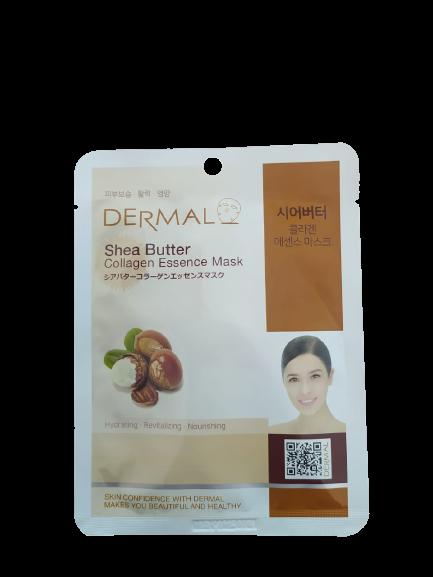 Dermal Питательная маска для лица на основе эссенции масла ши и коллагена Shea Butter Collagen Essence Mask