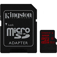 Карта памяти, Kingston, SDCA3-32GB, UHS class 3 (U3), 4K2K, 90R-80W адаптер SD