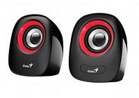 Колонки, Genius, SP-Q160, 6Вт, USB, Длина кабеля 1,5м, Красный