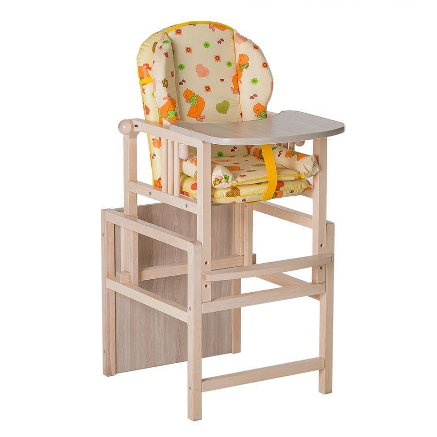 Стул-стол для кормления с вкладышем ГНОМ Утки желтые