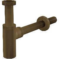 Сифон для умывальника Ø32 DESIGN, цельнометаллический, круглый, цвет бронза A400ANTIC