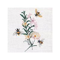 Салфетки 3-сл 33х33см Floral Bees, бумага, 20 шт